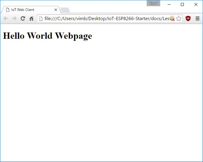 HTML Hello World